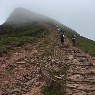 Anna, Angharad and Anja tackle the beacons in aid of Newlife charity