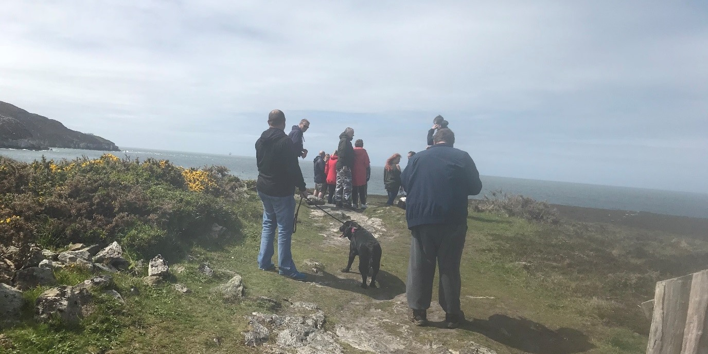 Holyhead coast walk for Supporting People