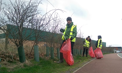 Hard work at Recovery cycleway clean-up