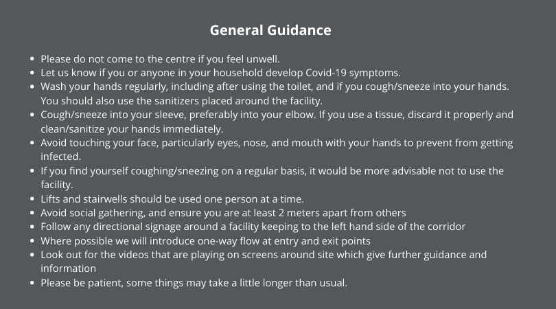 Indoor Classes Guidance 5