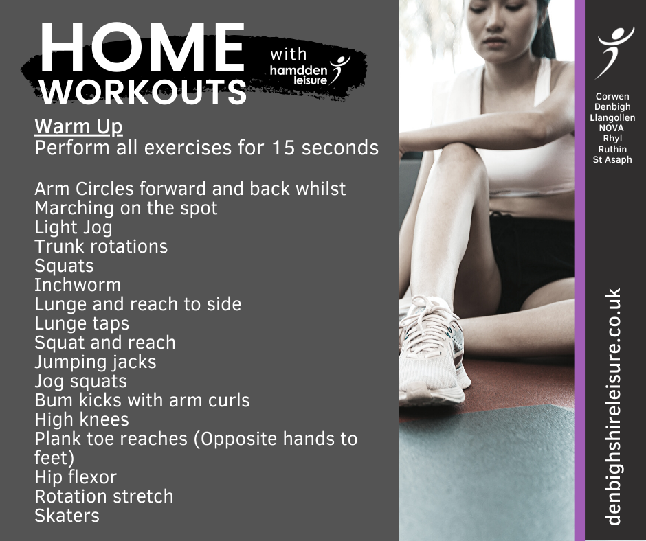 home workouts warm up