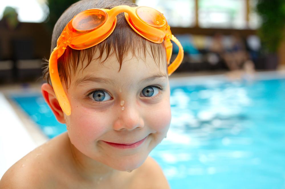 swim boy in pool