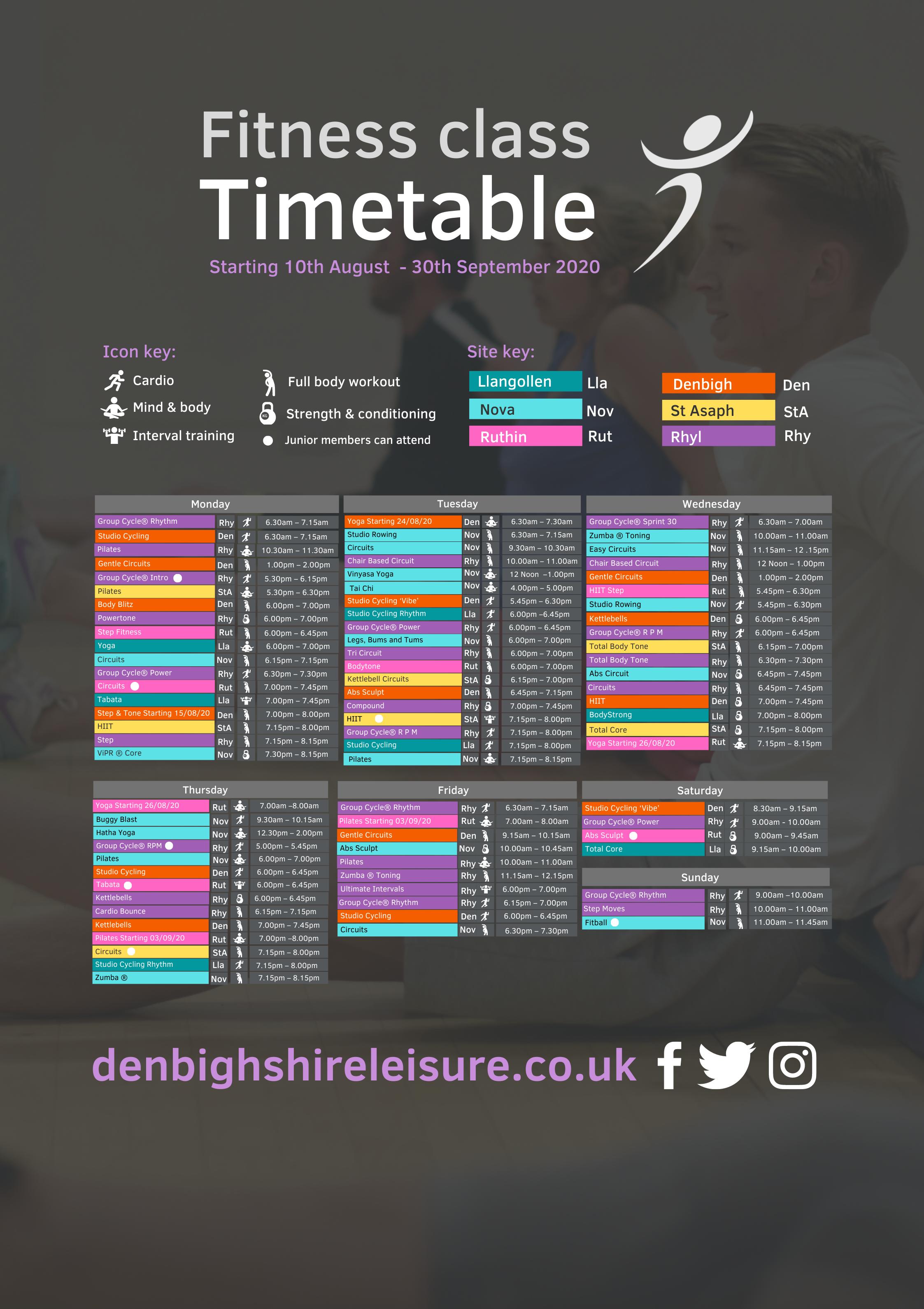 Class Timetable Aug 2020 E