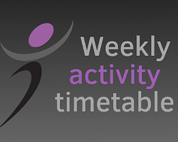 Take a look at our Activity Timetable