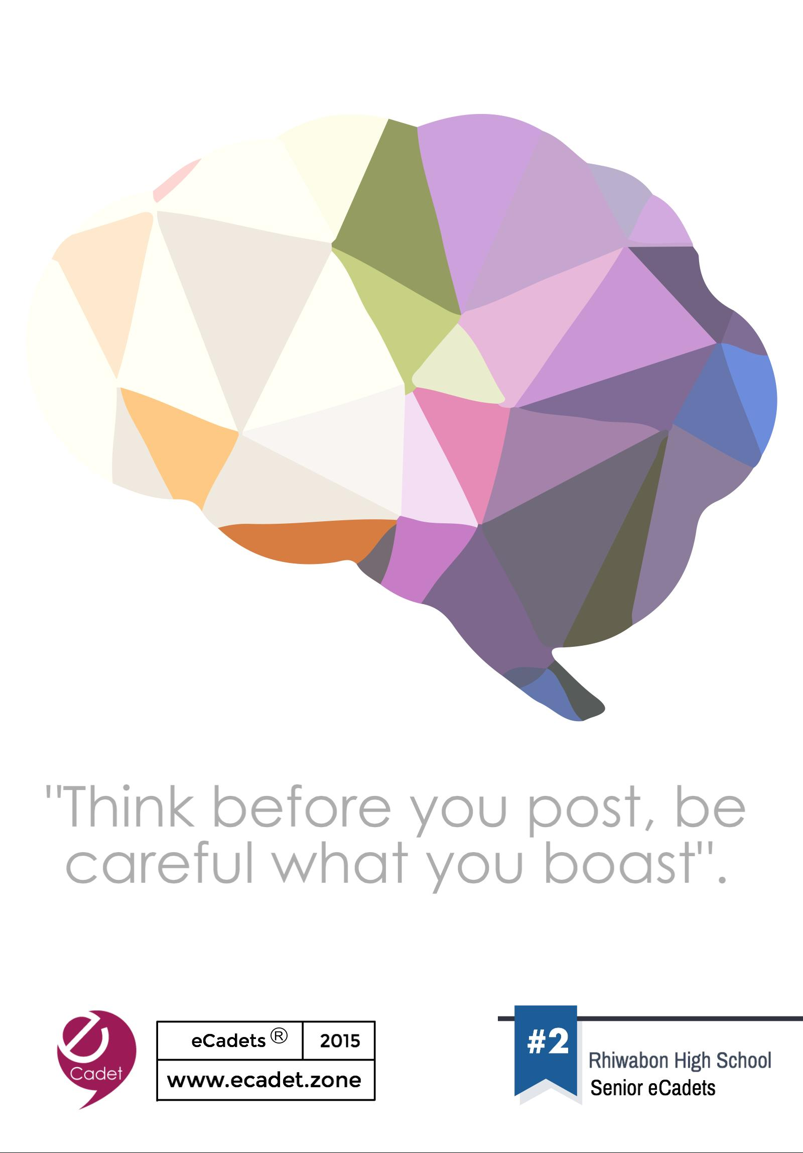 Poster design ks3 -  Poster By Ks3 Ecadets Think Before You Post