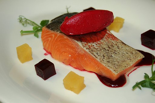Smoked confit sea trout