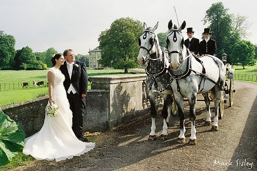 Bride & Groom with Horse & Cart