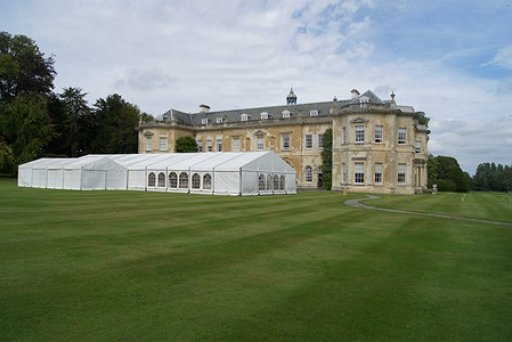 Marquee set up for Exclusive Use on South Terrace