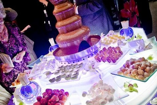 Marquee Wedding Chocolate Fountain
