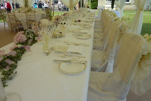 Marquee Wedding Place Setting