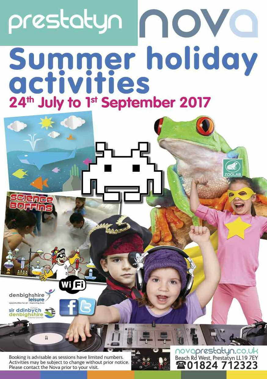 Summer holiday activities 2017
