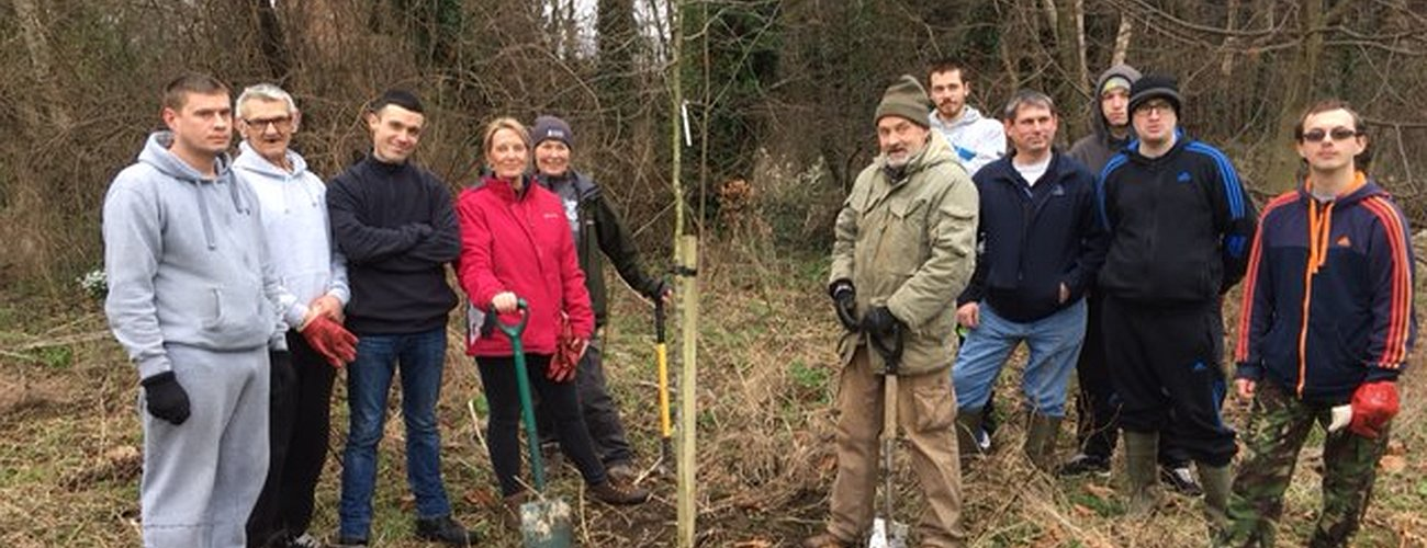 Community comes together to care for conservation area - April 2017