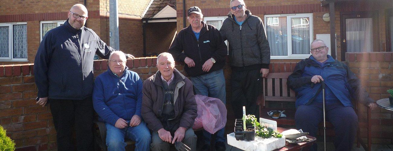 Community planting event in Mochdre - April 2017