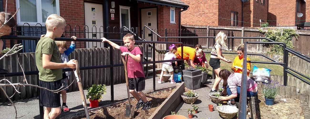 Planting Fun at Erw Groes - September 2018