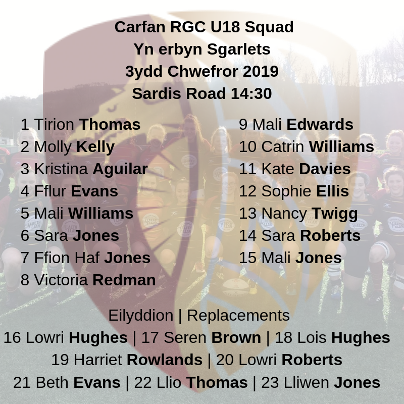 RGC Women U18s Set for Scarlets