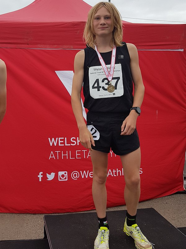 Osian at Welsh Athletics
