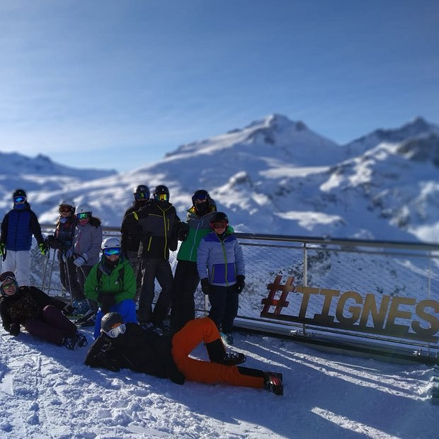 Skiing in Tignes