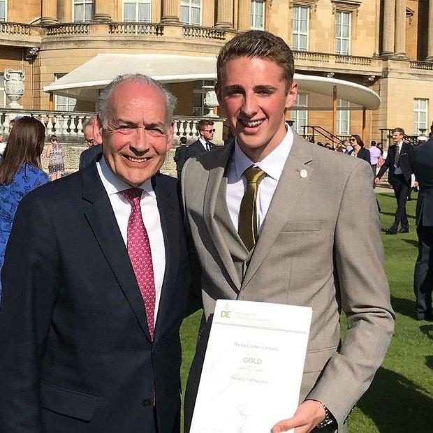 Celebration of DofE success with  pupil at Buckingham Palace