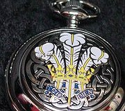 A E Williams - Pocket Watch Welsh Feathers & Crown