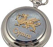A E Williams - Pocket Watch Welsh Dragon Cymru