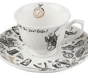 Alice in Wonderland - Boxed Espresso Cup and Saucer