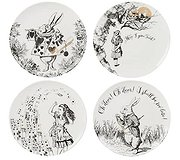 Alice in Wonderland - Set of four Boxed Plates