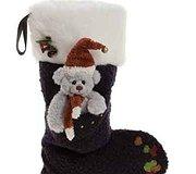 Charlie Bear - Socks Christmas Eve Blue