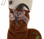 Charlie Bear - Socks Reindeer Brown