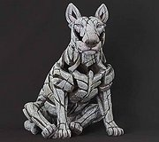 Edge Sculpture - Bull Terrier White