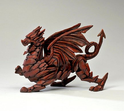 Edge Sculpture - Dragon Red