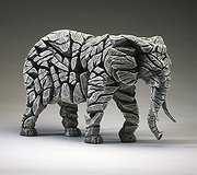 Edge Sculpture - Elephant White