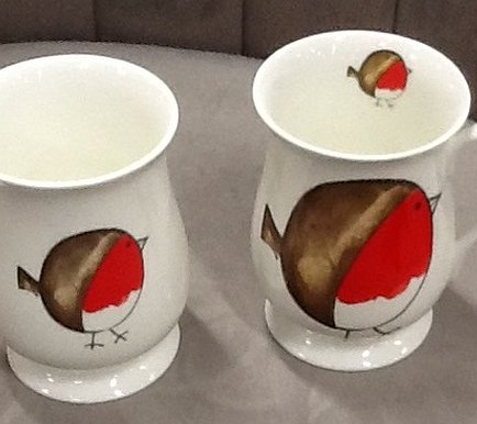 Redwood - Goblet Robin Mugs