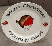 Redwood - Merry Christmas Robin Plate