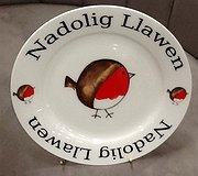 Redwood - Nadolig Llawen (merry christmas) Robin Plate
