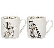 Alice in Wonderland - Queen & King of Hearts Mug set