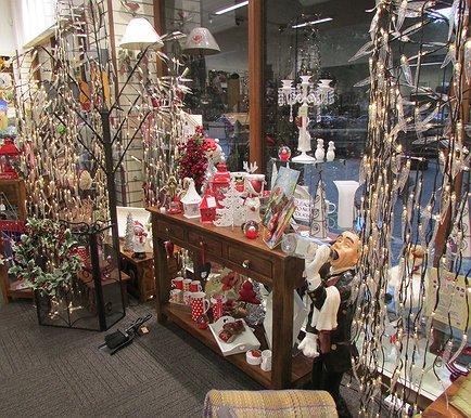 inside shop xmas