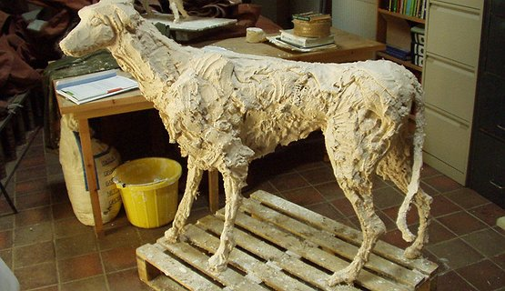 Gelert's statue  being made - Gelert's statue  being made