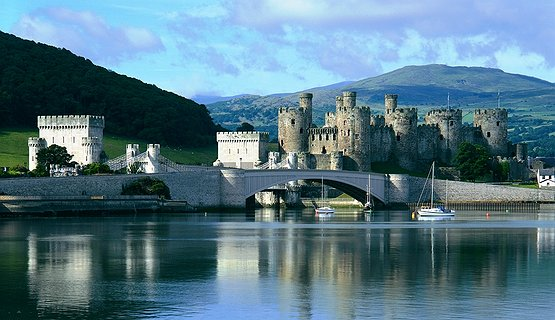 Conwy Castle - Conwy Castle and Estuary