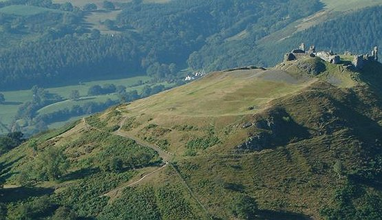 AONB - Clwydian Range and Dee Valley, Area of Outstanding Natural Beauty.