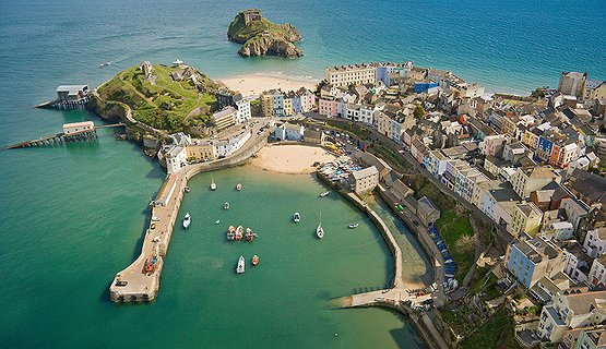 Tenby Harbour - Ariel view