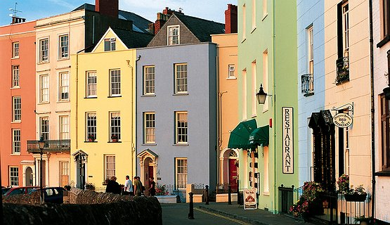 Tenby - Colourful Georgian houses