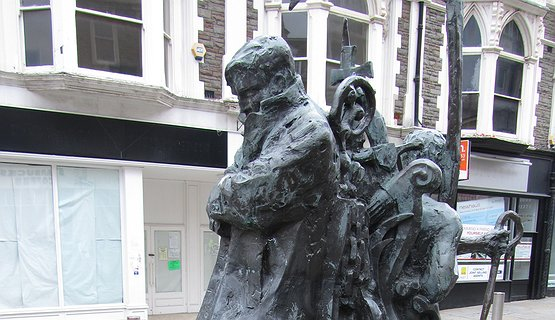 Chartist Memorial, Newport - Outside the Westgate Hotel, site of the fallen