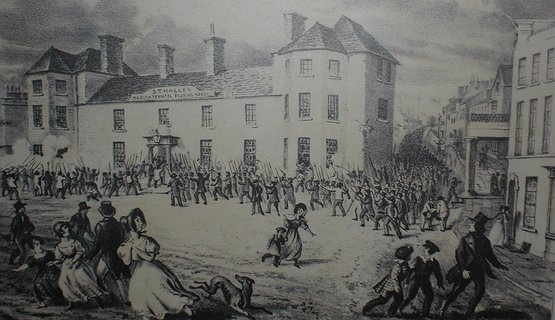 Chartist Uprising 1839 - The scene on 04 November 1839