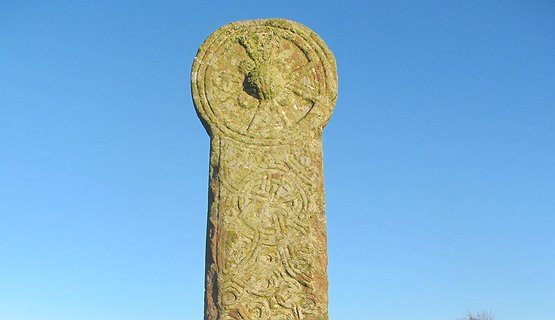 Celtic tour of Sacred places - Maen Achwyfan Standing stone