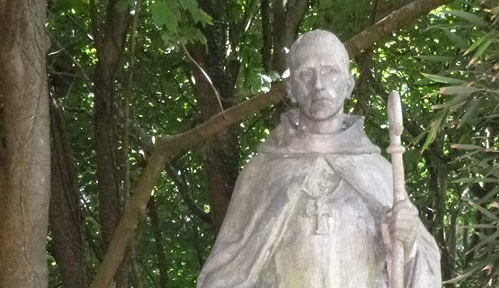 St Samson statue, Caldey Island